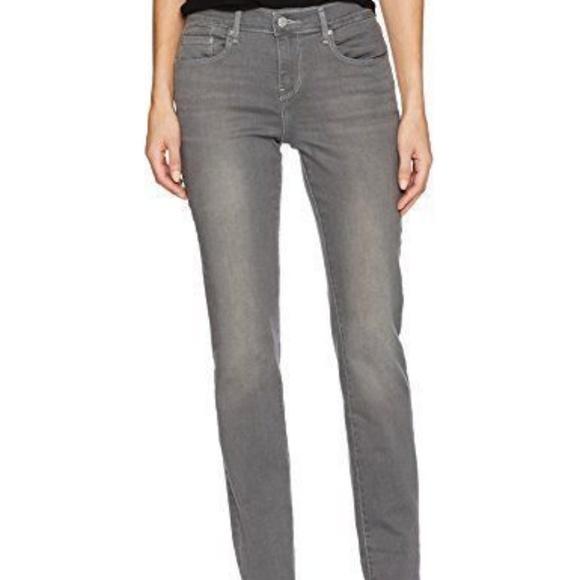 a002631b6ca Levis Womens 505 Straight Jeans Grey Lightning 32